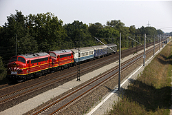 IGE organised special passenger train DPE 25152 from Hannover Hbf (D) to Odense (DK) to get Altmark Rail MY 1149 and Altmark Rail MY 1155 to the NoHAB meeting in Odense. Ashausen (D), 5 September 2014.