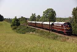 DSB Jernbanemuseet MY 1101 works a special passenger train from Tommerup (DK) to Odense (DK) just west of Odense on 6 September 2014.