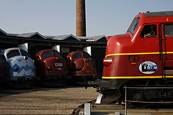 From right to left Altmark Rail MY 1149, Almark Rail MY 1155, DSB Jernbanemuseet MY 1159, MY Veterantog MY 1126 at Odense DSB Jernbanemuseet on 6 September 2014.