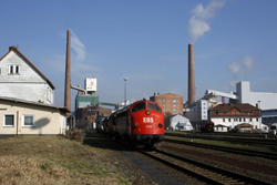 Erfurter Bahnservice MY 1131 arrives at Heringen with photo train 69464 (Gerstungen - Heimboldshausen) on 27 February 2016.