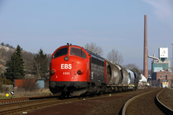 Erfurter Bahnservice MY 1131 leaves Heringen with photo train 69464 (Gerstungen - Heimboldshausen) on 27 February 2016.