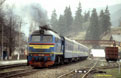 UZ M62 1546 restarts its engine at Vorokhta (UA) with a Dolyna (UA) - Yasinya (UA) extra Dzherelo hotel train on 18 April 2005.