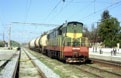 UZ ChME3-6686 has just arrived in Bakhchisaray (UA) with a freight train from Simferopol (UA) on 25 April 2005.