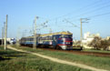 UZ ER1-54 will soon arrive at Evpatoriya Kurort (UA) with passenger train 6633 from Simferopol (UA) on 26 April 2005.