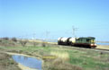 UZ ChME3-6706 has just left the outskirts of Evpatoriya (UA) on its way to Simferopol (UA) with a short freight train.