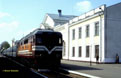 UZ TEP70-0141 has just arrived at Poltava Pivdenna (UA) with the 6-coach Dzherelo hotel train from Evpatoriya Kurort (UA) on 27 April 2005.